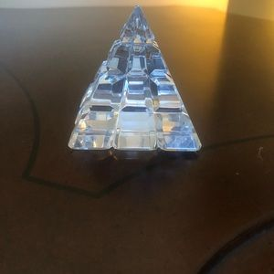 Waterford crystal pyramid paperweight lead crystal